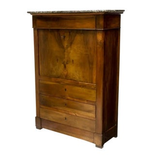 Early 19th Century French Provincial Louis Philippe Period Walnut Secretaire a Abattant For Sale