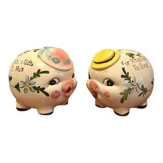 1950s Anthropomorphic Piggy Banks - a Pair