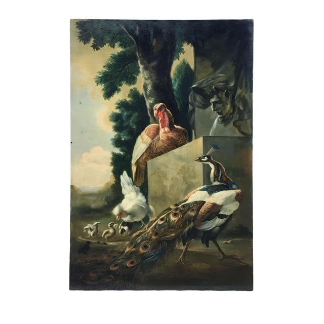 Mid 20th Century Pheasants in the English Countryside Painting on Canvas For Sale - Image 5 of 5