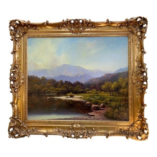 A.D. Greer Texas Artist Oil on Canvas Landscape For Sale
