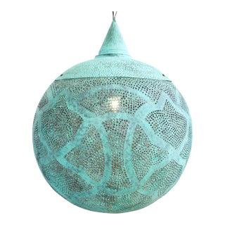 Verdigris Copper Globe Lantern X-Large