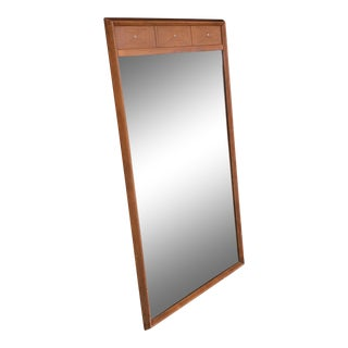 Mid-Century Modern Wood Frame Wall Mirror For Sale