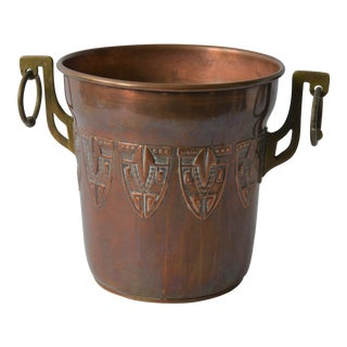 Antique Copper and Brass Champagne Ice Bucket