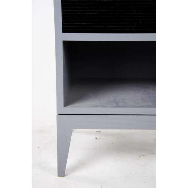 1980s Mid-Century Modern Black Glass Tile Side Tables - a Pair For Sale - Image 10 of 13