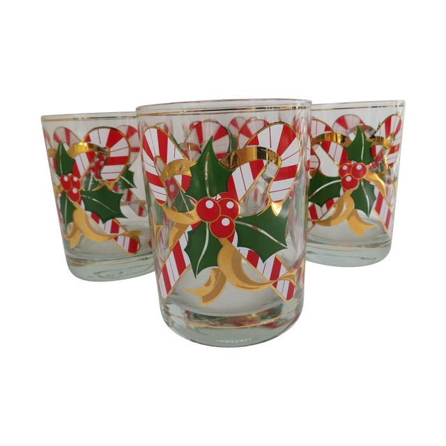 Culver Candy Cane Glasses - S/4 - Image 1 of 6