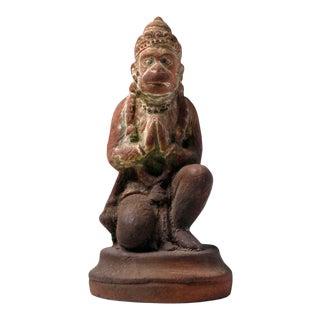Sri Lankan Molded Clay Figure of Hanuman For Sale