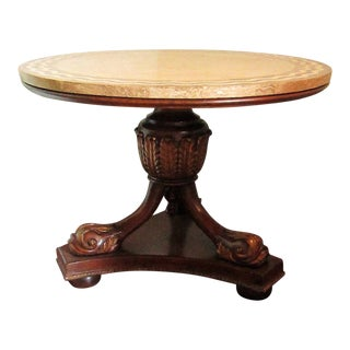 Maitland Smith Tessellated Stone Top Center Table For Sale