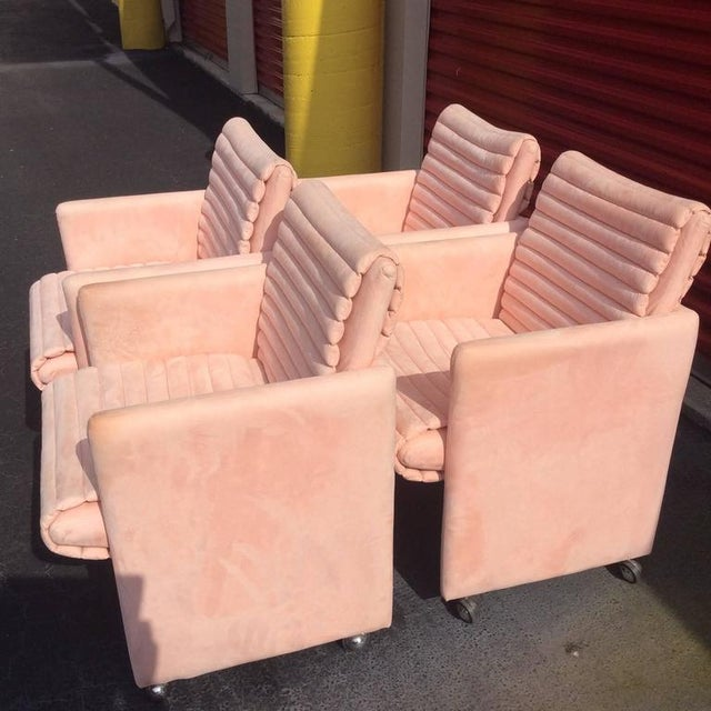 Vintage Milo Baughman Armchairs by Preview - Set of 4 - Image 3 of 12