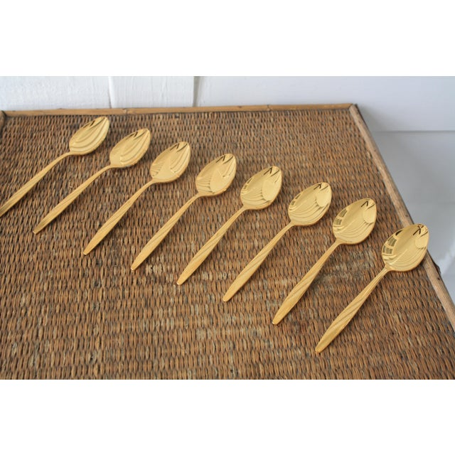 Mid-Century International Silver Gold Tone Spoons - Set of 8 - Image 11 of 11