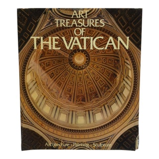 """Coffee Table Display Book """"Art Treasures of the Vatican - Architecture - Painting - Sculpture"""" - 1974 For Sale"""