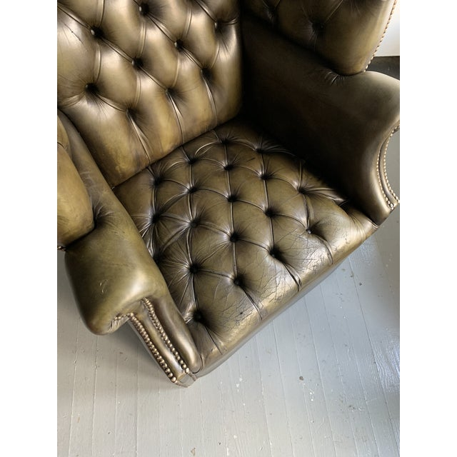 Leather Porters Chair For Sale - Image 10 of 11
