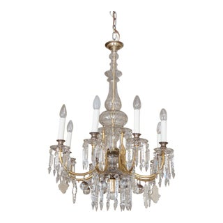 Cut crystal chandelier by JL Lobmeyr For Sale