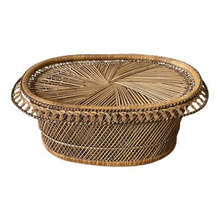 1970s King Cobra Wicker Coffee Table** For Sale