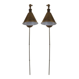 Visual Comfort Boston Functional Single Arm Library Sconce - a Pair