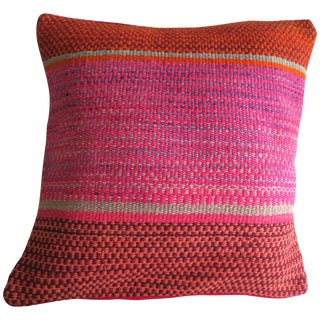 Peruvian Pillow Red/Pink For Sale