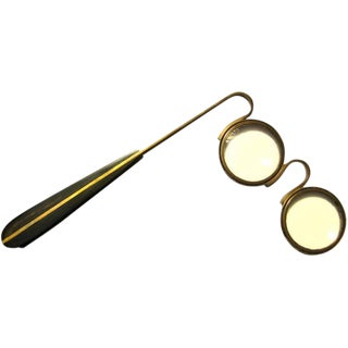 Brass and Horn Opera Magnifying Glasses by Carl Aubock For Sale