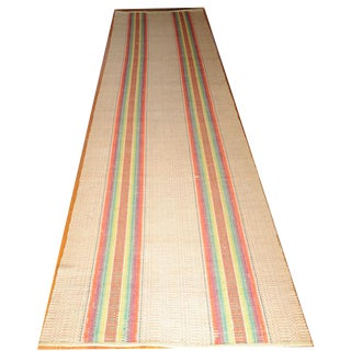Amish Rainbow Striped Rag Rug - 2′11″ × 12′3″ For Sale