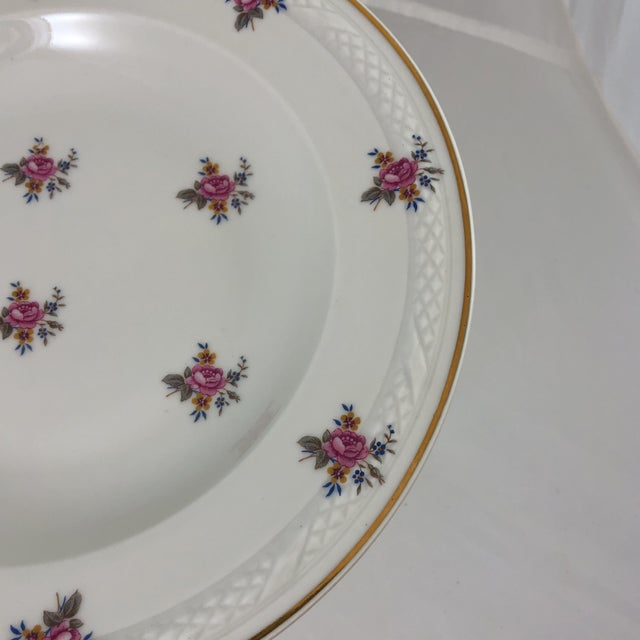 Early 21st Century French Limoges Flower Patterned China Bowl For Sale - Image 5 of 6