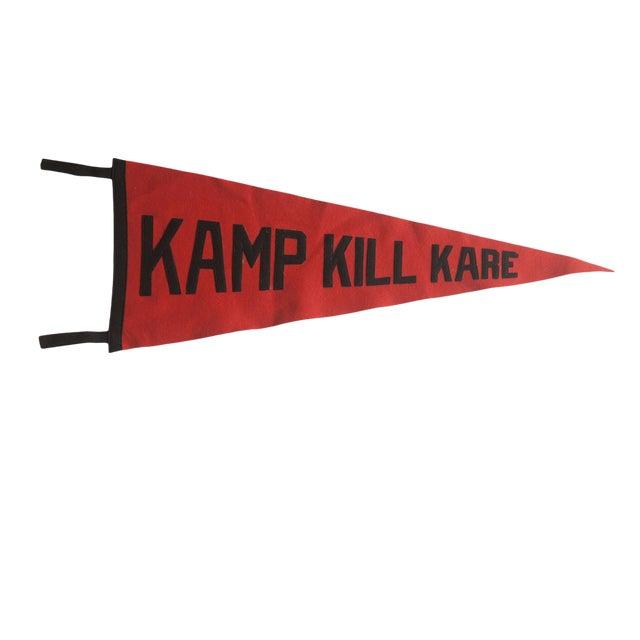 Vintage Kamp Kill Kare Felt Flag Pennant For Sale