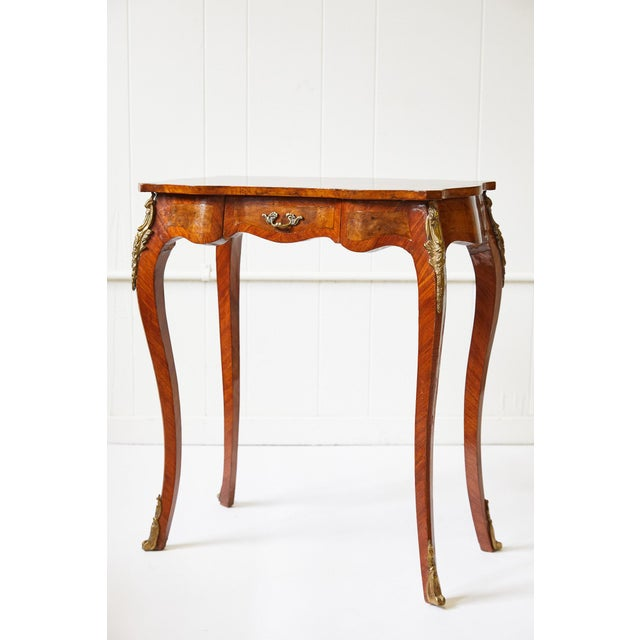 Italian Side Table With Star Marquetry Top For Sale - Image 9 of 9