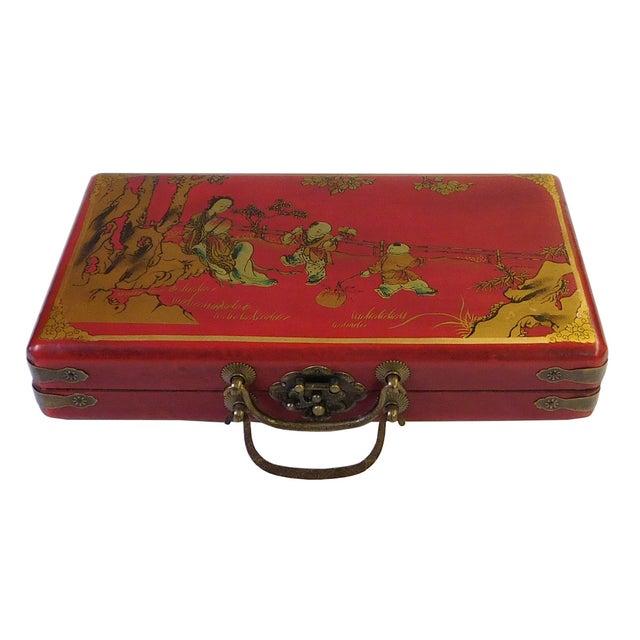 Chinese Red Rectangular Box & Abacus - Image 3 of 3