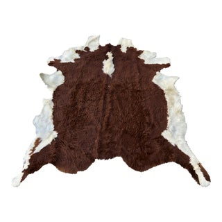 Vintage Hereford Cow Hide Rug For Sale