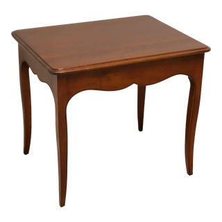 Vintage French Country Walnut End Side Table For Sale