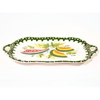 1980s Vintage Hand-Painted Tropical Italian Zanolli Majolica Fruit Platter Preview