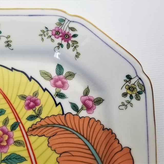 Vintage Japanese Porcelain Tobacco Leaf Tray - Signed 1977 For Sale In Miami - Image 6 of 12