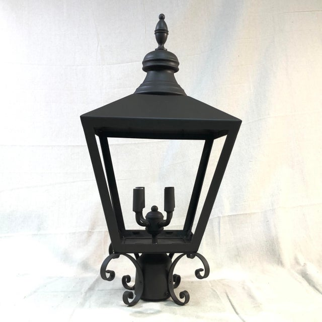 Troy Lighting Mumford 4-Light Outdoor Post Lantern - Showroom Sample This sleek post lamp is crafted from aluminum with a...