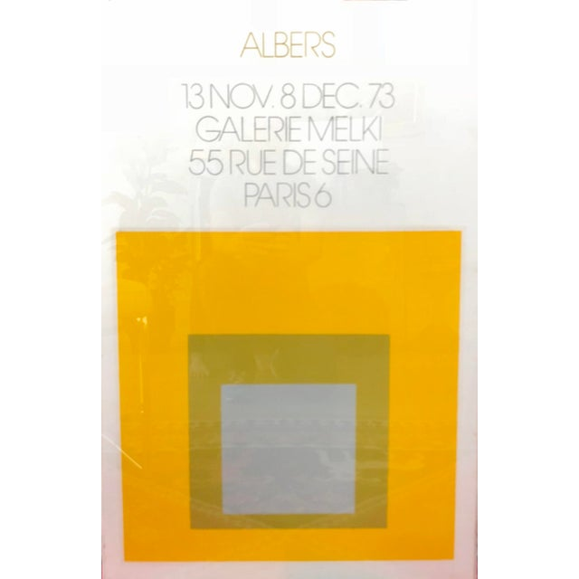 Vintage 1973 Josef Albers Homage to the Square Poster from Galerie Melki 55 Rue de Seine Paris 6. Dated 13 November to 8...