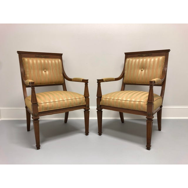 Vintage Mid 20th Century French Provincial Louis XVI Lounge Chairs - a Pair For Sale - Image 13 of 13