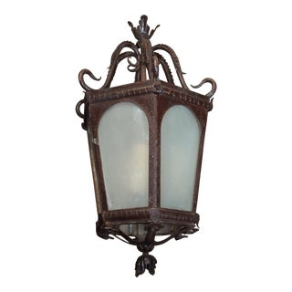 French Iron Lantern For Sale