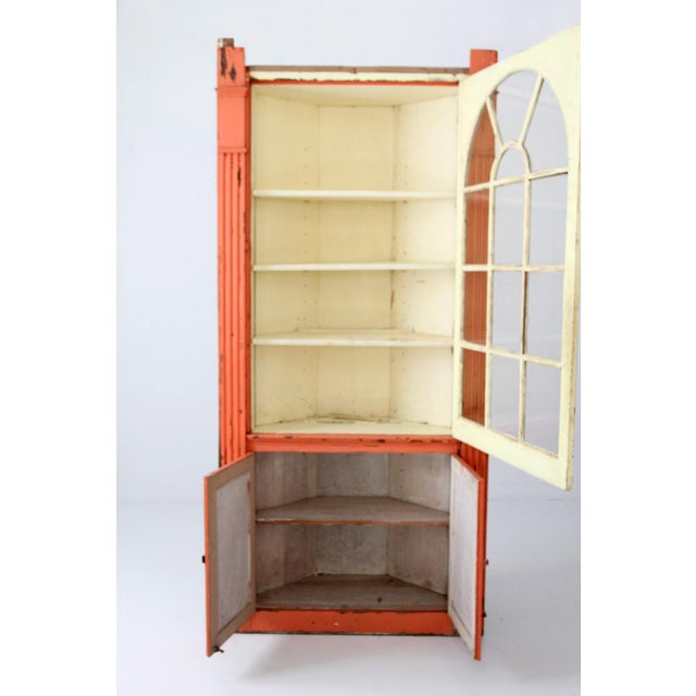 Antique Corner China Cabinet For Sale - Image 9 of 9