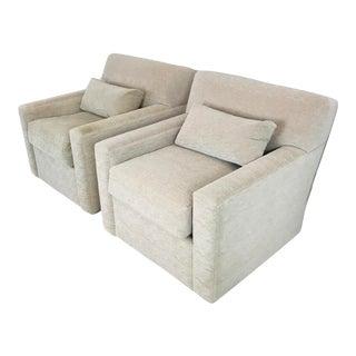 Pair Custom Armchairs - a Pair For Sale