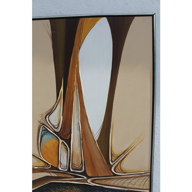 Vintage Abstract Composition by Christie For Sale In Miami - Image 6 of 11