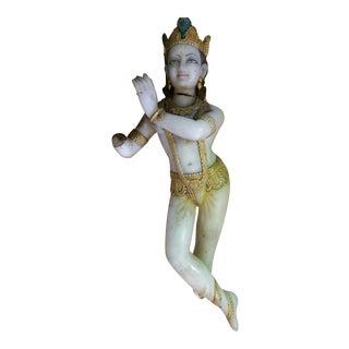 Antique Marble Krishna Deity Statue