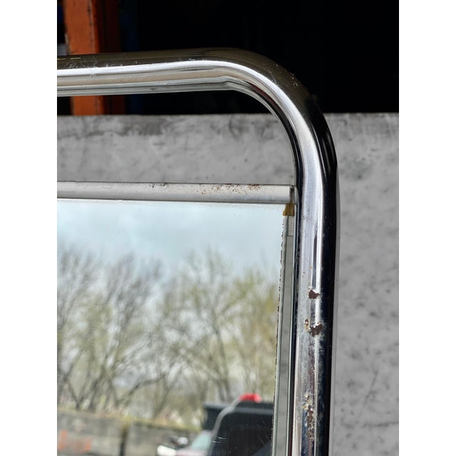 Metal Vintage Medical Doctor's Chrome Floor Table Mirror For Sale - Image 7 of 10