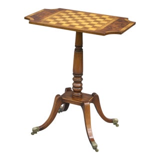 English Walnut Games Table For Sale