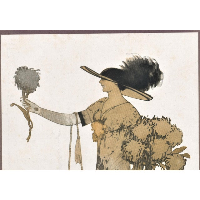Art Deco French Art Deco Women's Fashion Print For Sale - Image 3 of 4