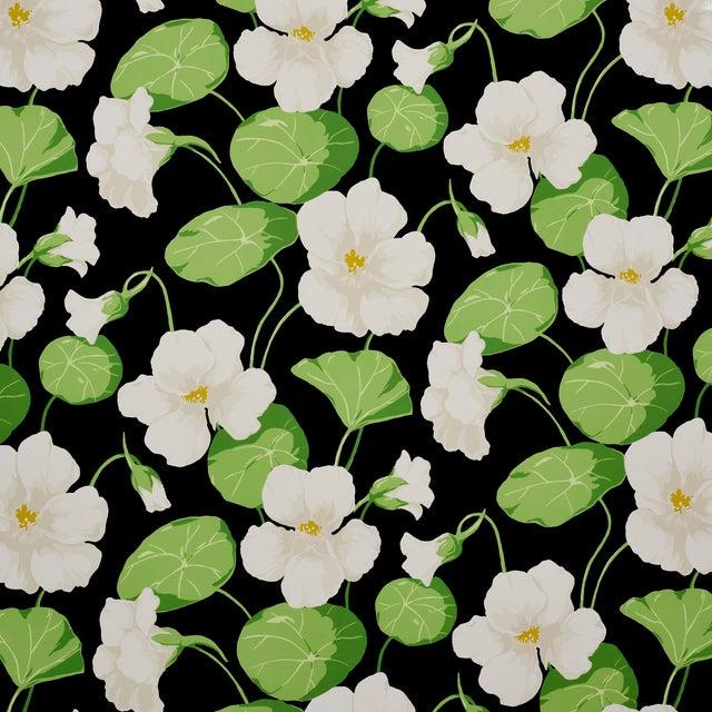 Schumacher Nasturtium Wallpaper in Noir (8 Yards) For Sale