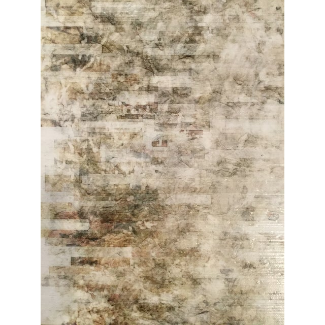 """Stretched canvas abstract print, no frame. The piece is titled: """"Silence Movement II""""."""