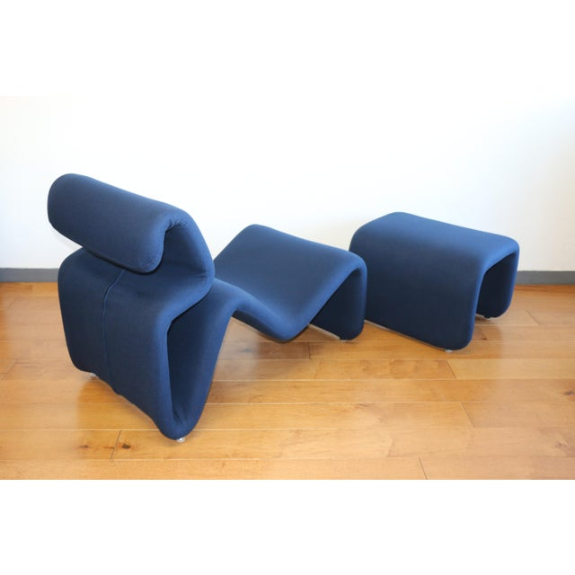 Ribbon Lounge Chair and Ottoman by Oliver Mourgue For Sale - Image 4 of 12