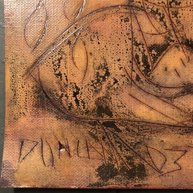 Original encaustic painting/Drawing on paper signed bottom left 9 x 12 unframed