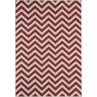 "Momeni Baja Red Indoor/Outdoor Rug - 7'10"" X 10'10"" For Sale"