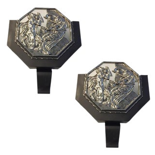 French Art Deco Illuminated Theater Sconces - a Pair For Sale