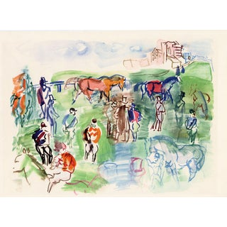 """""""Epsom"""", Original Lithograph by Raoul Dufy From """"Les Maitres Du Dessin"""" (1948) For Sale"""