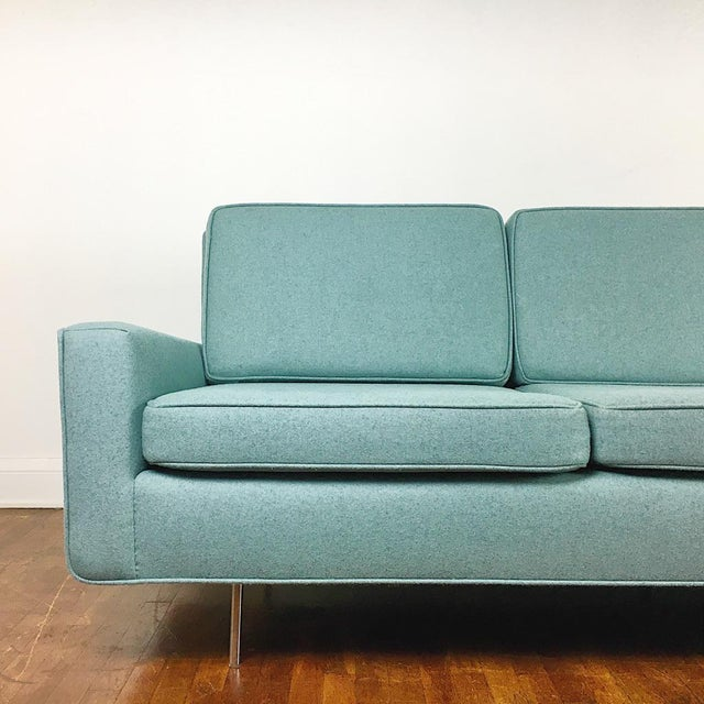 Contemporary Blue Florence Knoll Sofa For Sale - Image 3 of 11