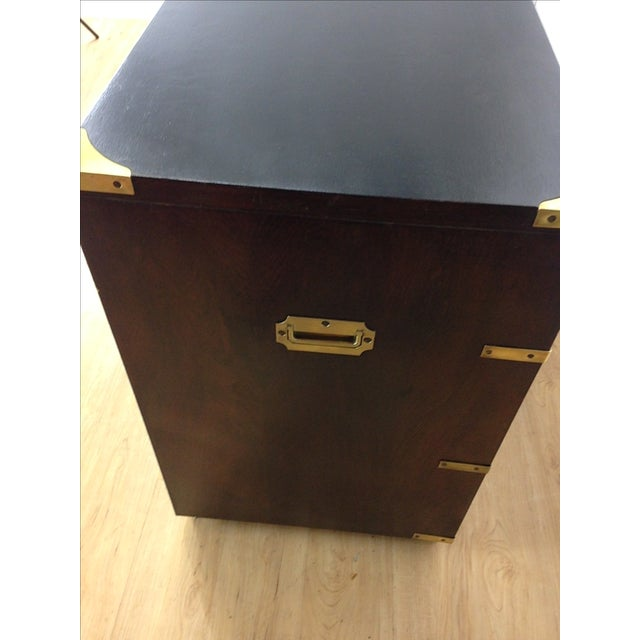Campaign Style Large Mahogany Chest - Image 5 of 6