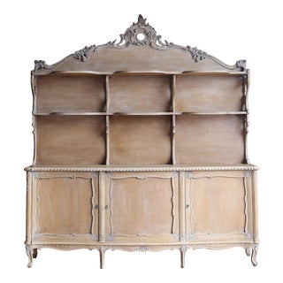 1960s French Style Sideboard With Display Hutch For Sale